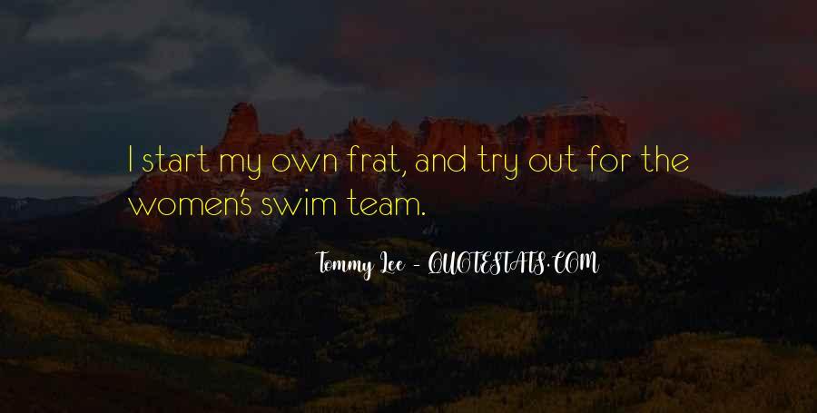 Quotes About Swim Team #381168