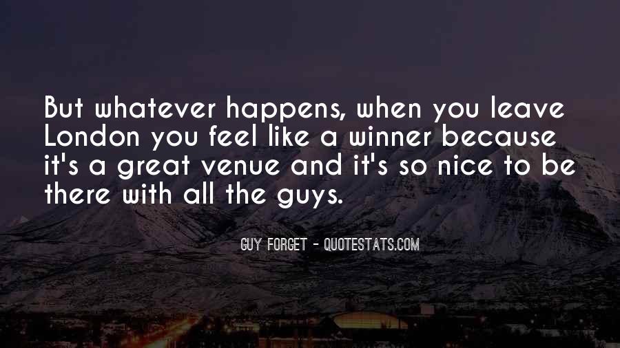 Quotes About Venue #468941