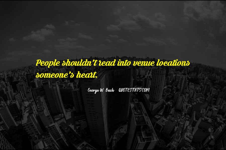 Quotes About Venue #840688