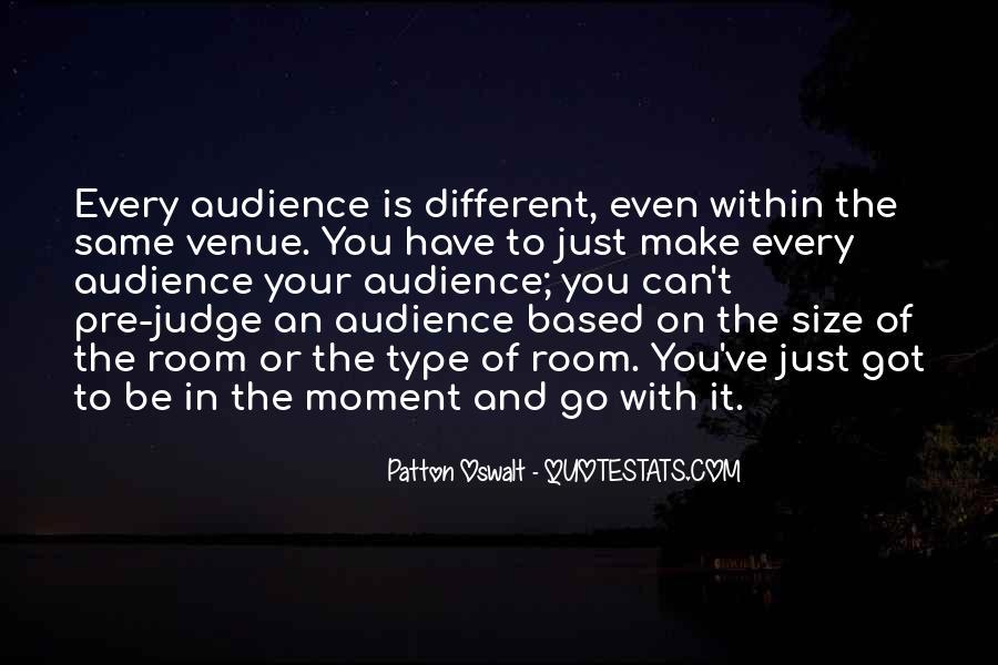 Quotes About Venue #842479