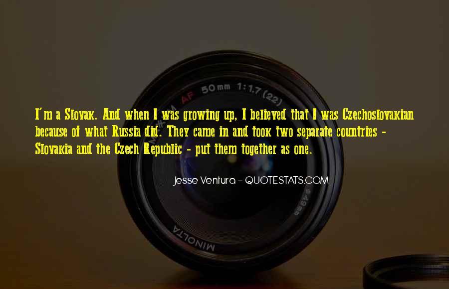 Quotes About Czech Republic #1233450