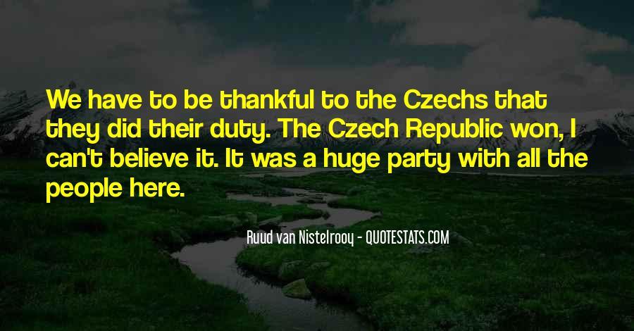 Quotes About Czech Republic #401010