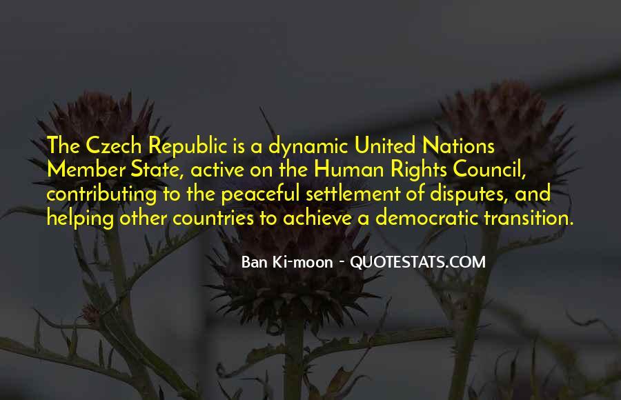 Quotes About Czech Republic #646180