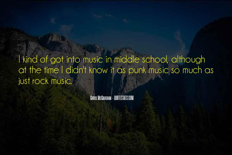 Quotes About Punk Rock Music #470390