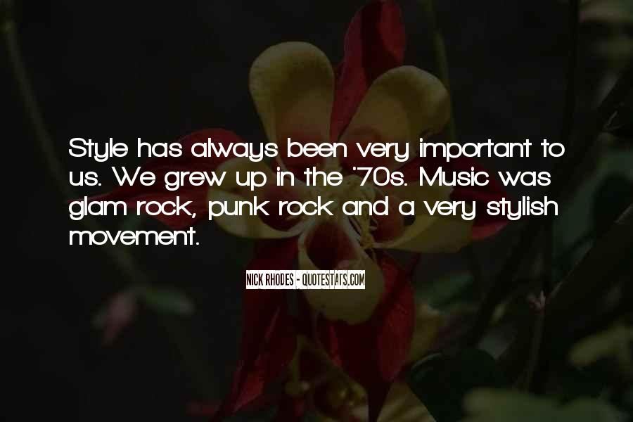 Quotes About Punk Rock Music #724863