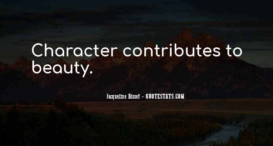 Quotes About Character Over Beauty #94416