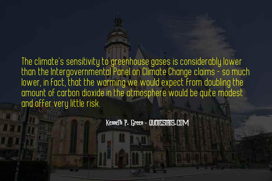 Quotes About Greenhouse Gases #1539477