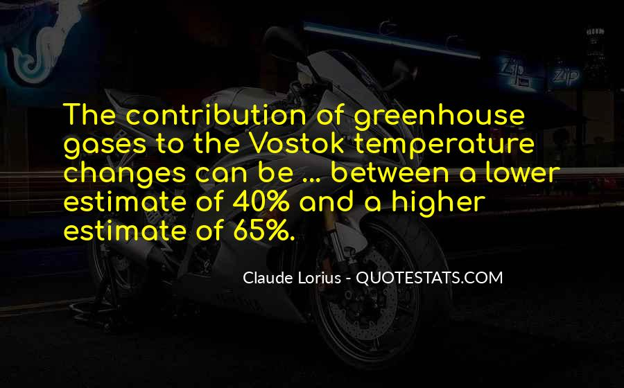 Quotes About Greenhouse Gases #342709