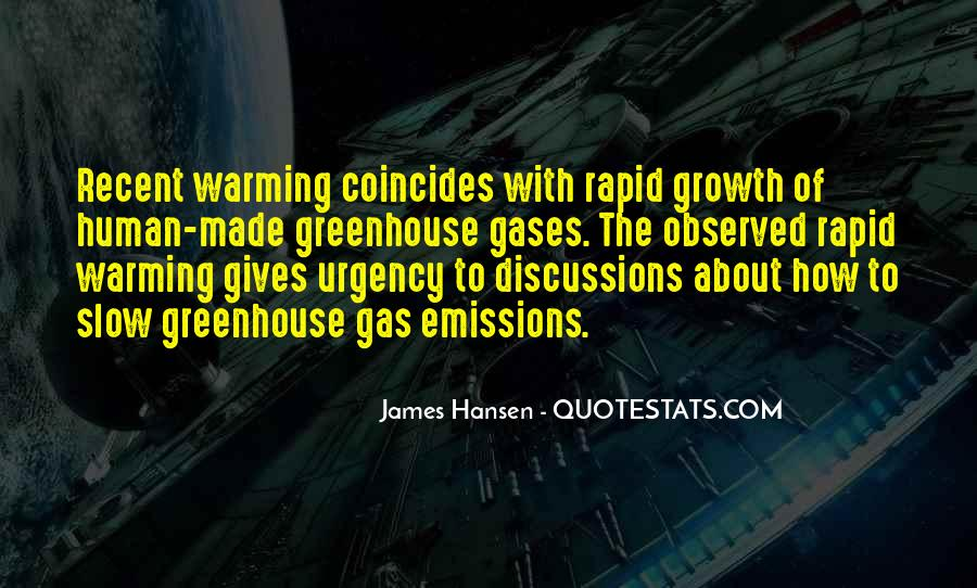 Quotes About Greenhouse Gases #479385