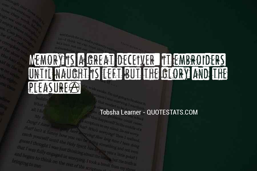 Quotes About Tobsha #1121602