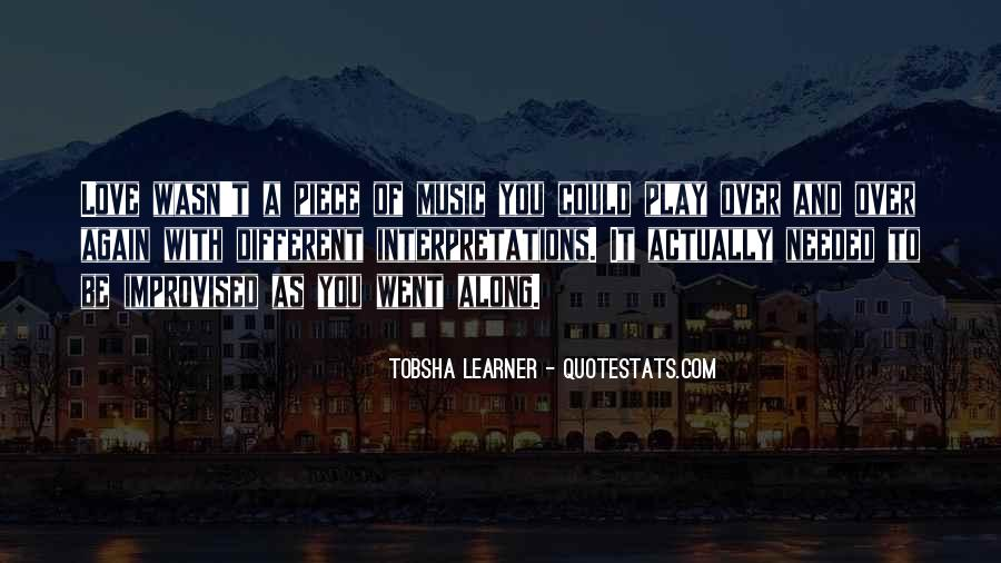 Quotes About Tobsha #948294