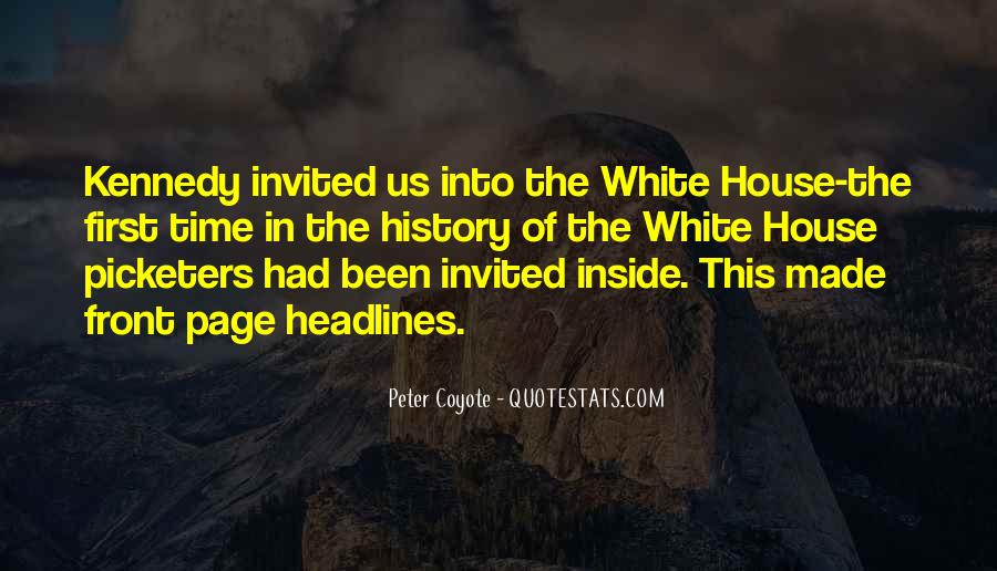 Quotes About The White House #69369