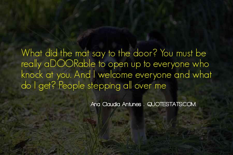 Quotes About The Word Welcome #162753