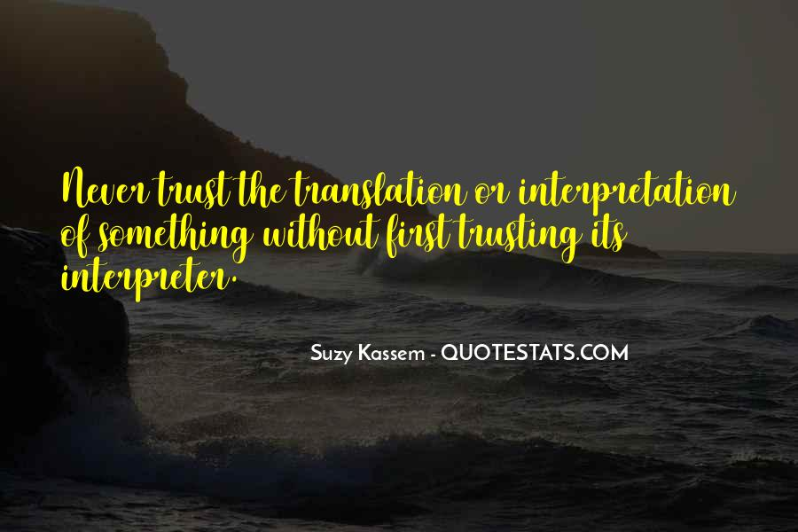 Quotes About Trusting #108702