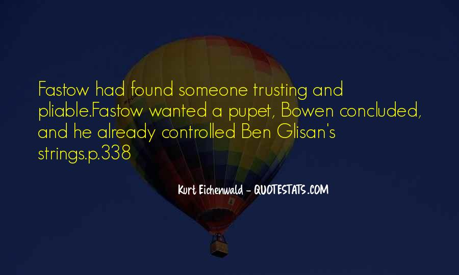 Quotes About Trusting #138808