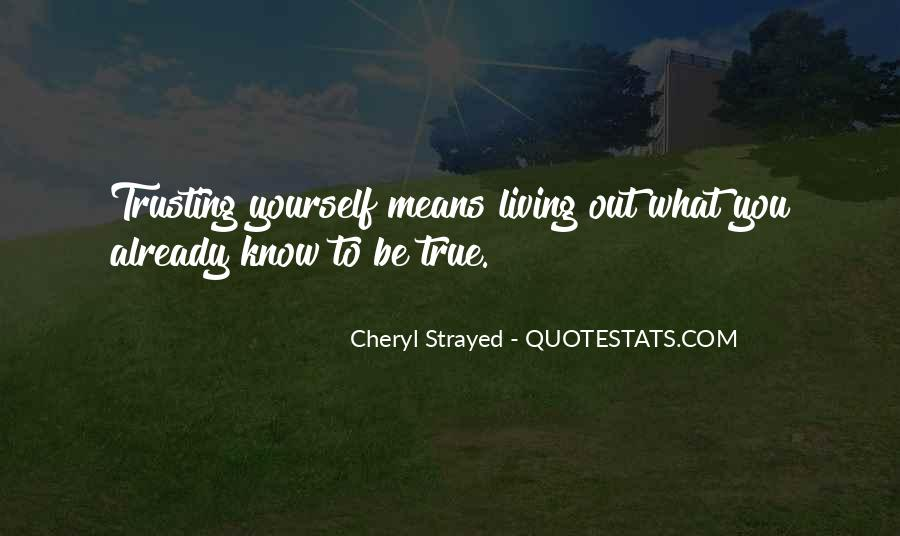 Quotes About Trusting #146765