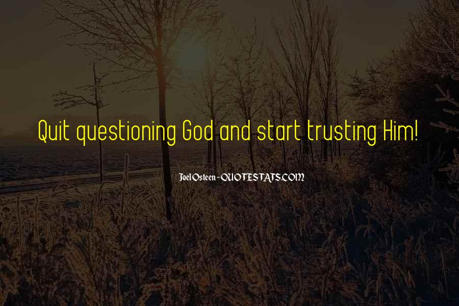 Quotes About Trusting #229110