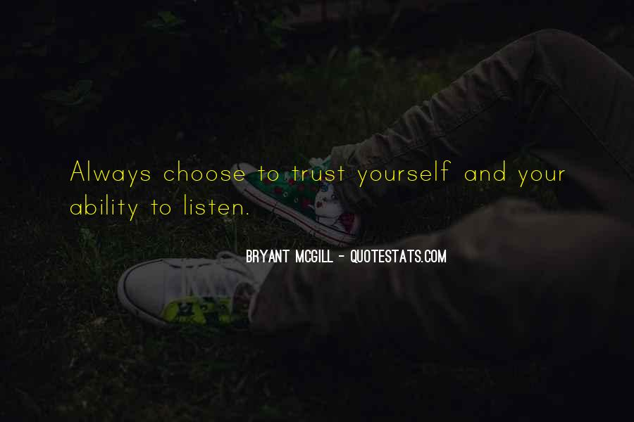 Quotes About Trusting #73918