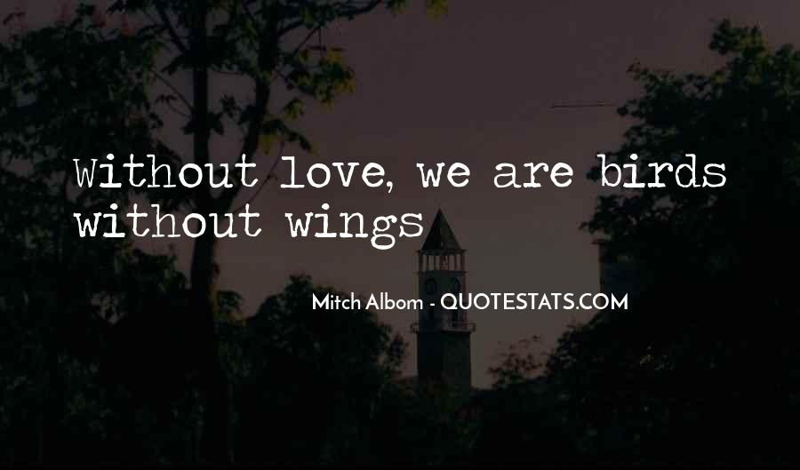 Quotes About Birds And Love #326682