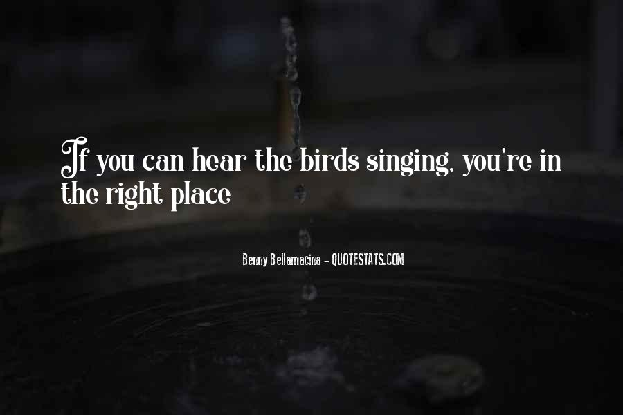 Quotes About Birds And Love #9544