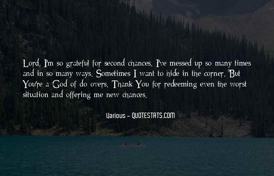 Quotes About Second Chances From God #1089811