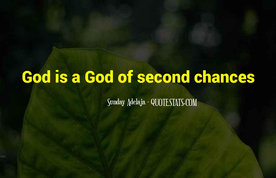 Quotes About Second Chances From God #550134