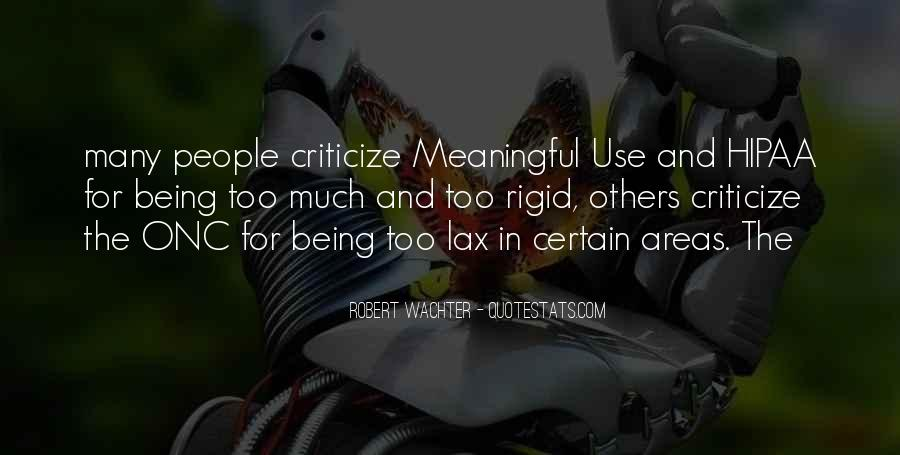 Quotes About Meaningful Use #136350