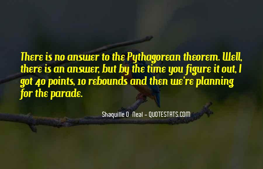 Quotes About Pythagorean Theorem #178089