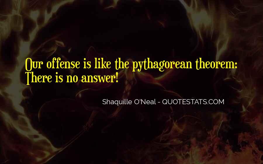 Quotes About Pythagorean Theorem #475531