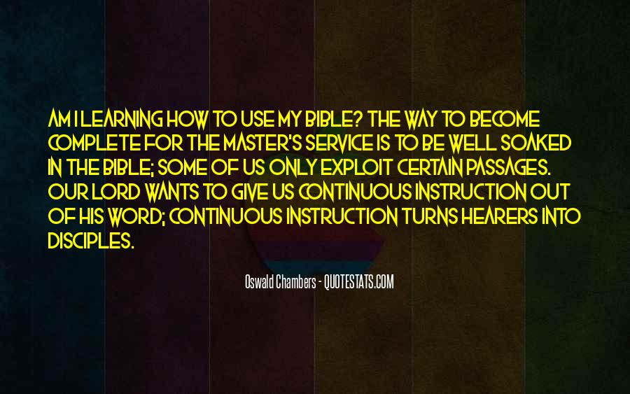 Quotes About Learning The Bible #1445962