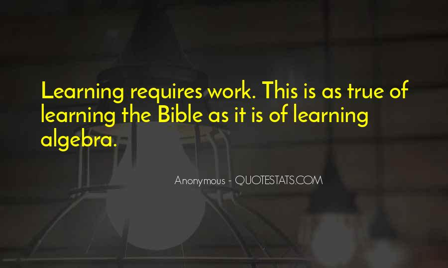 Quotes About Learning The Bible #884880