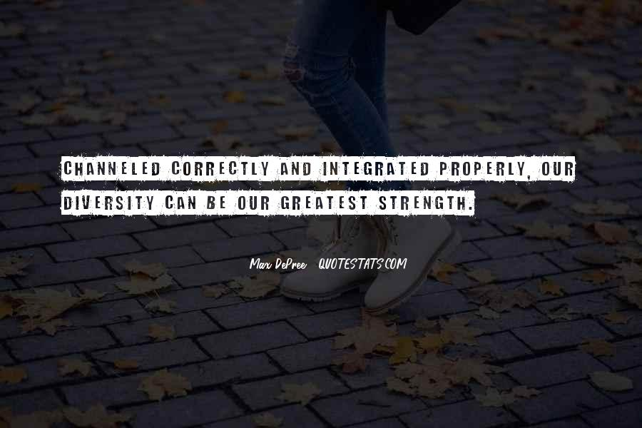 Quotes About Diversity And Strength #690684