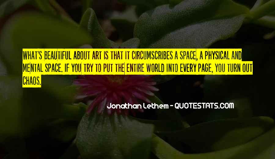 Quotes About Physical Space #1666838