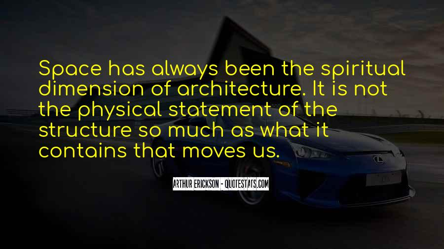 Quotes About Physical Space #749432