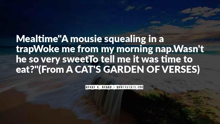 Quotes About Cats In The Garden #307754