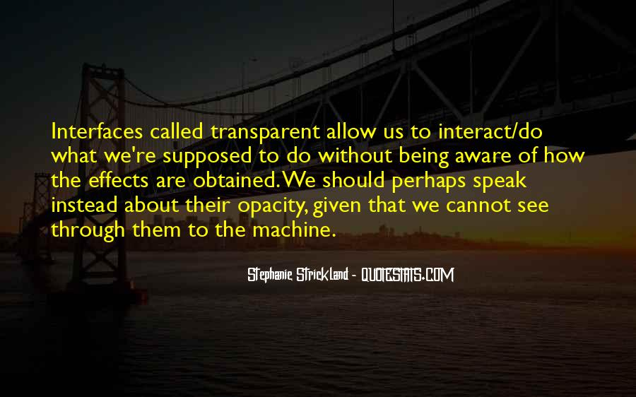 Quotes About Interfaces #1442609