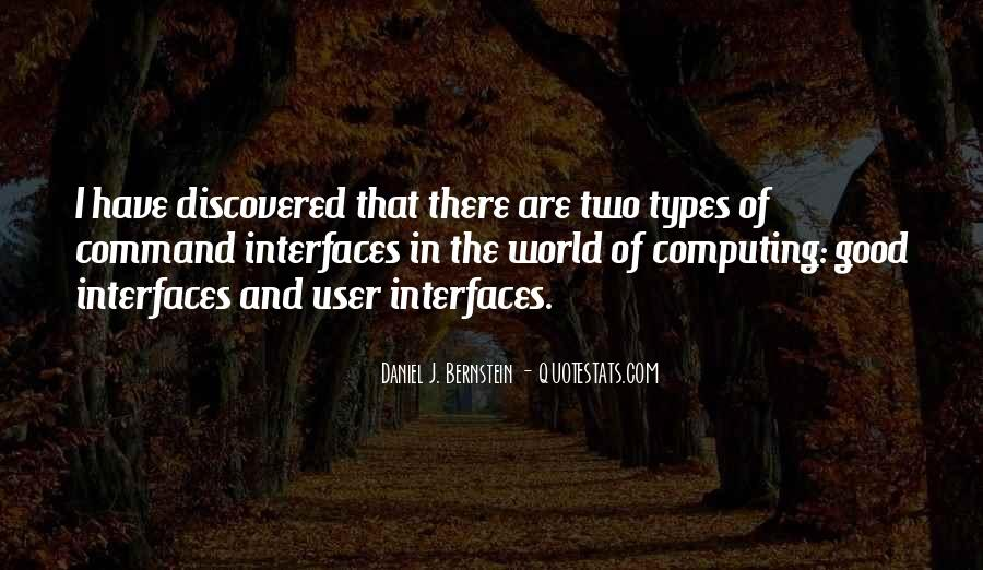 Quotes About Interfaces #1651814
