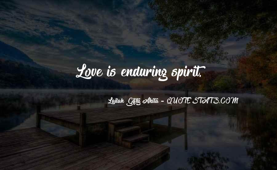 Quotes About Enduring Love #647141