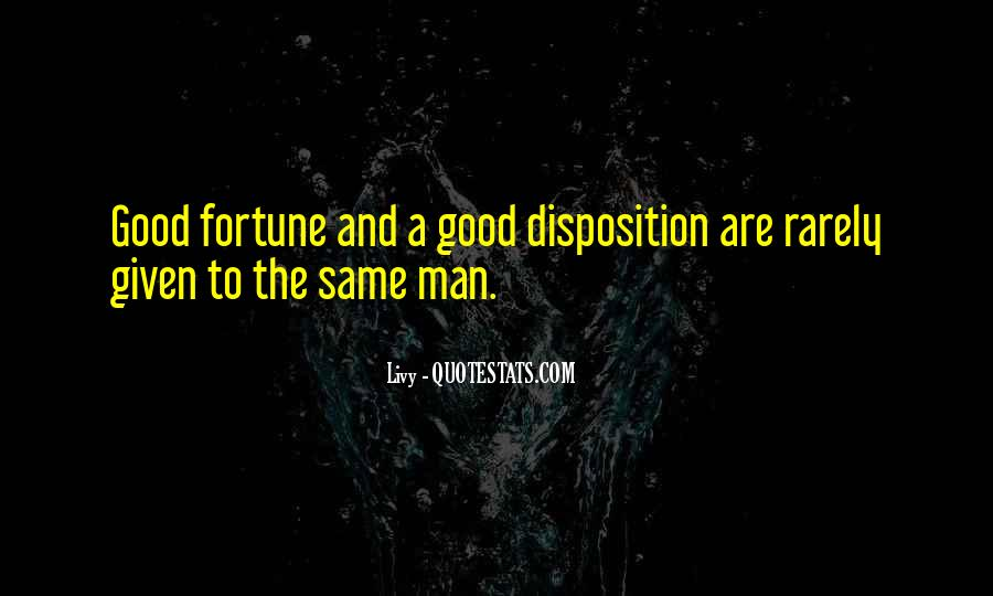 Quotes About Fortune And Luck #146629