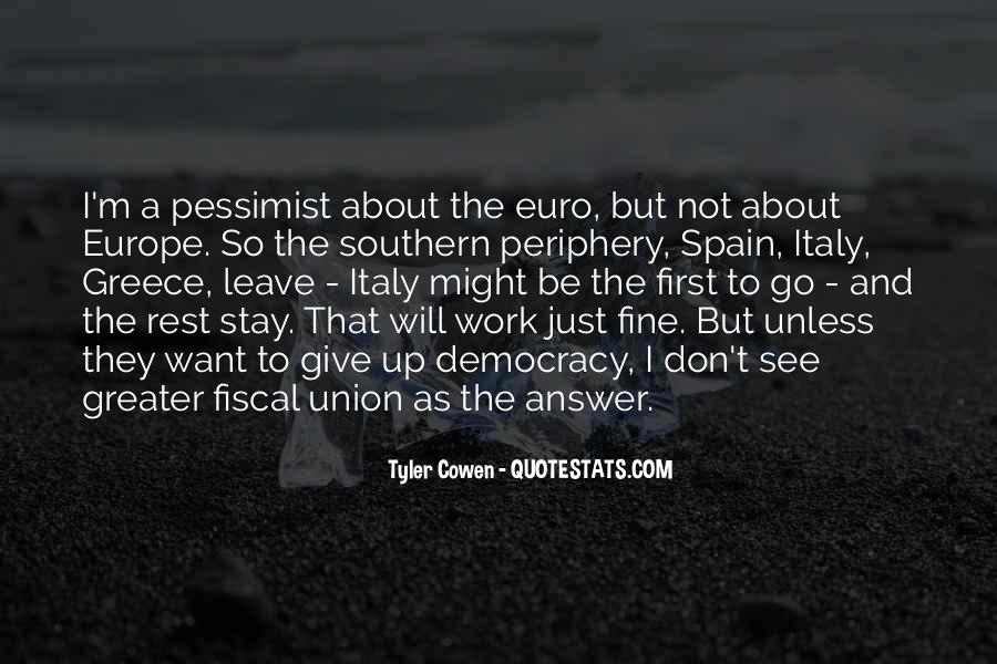 Quotes About Europe Union #1623782