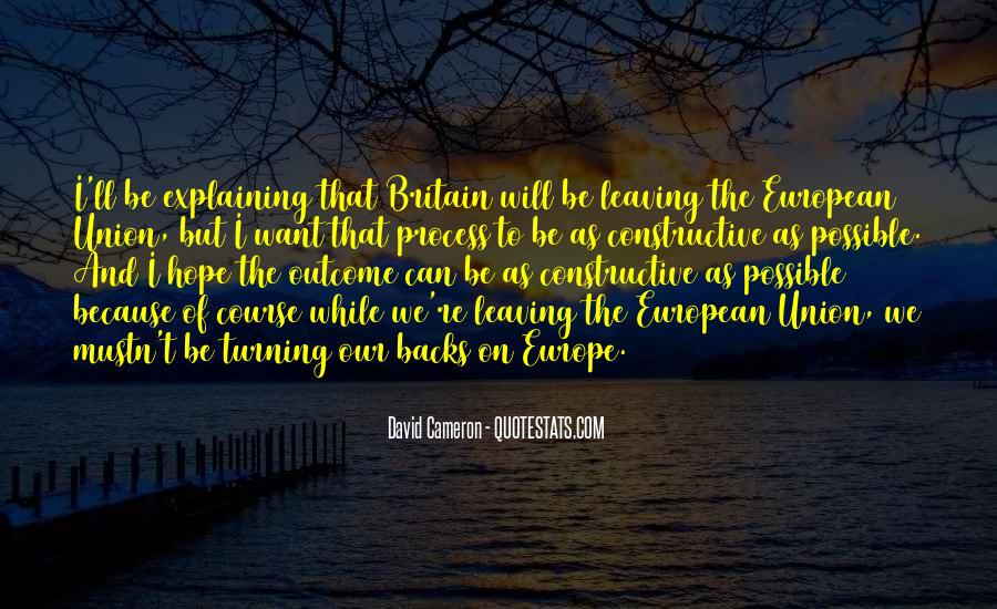 Quotes About Europe Union #760589
