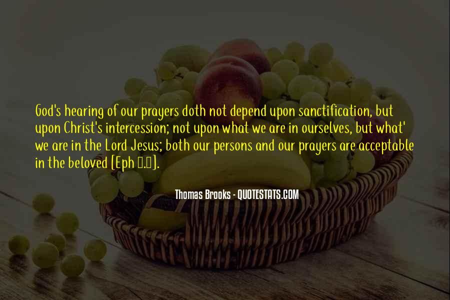 Quotes About Prayer Of Intercession #1241367