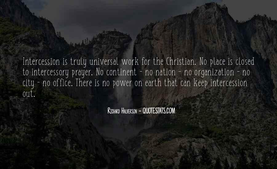 Quotes About Prayer Of Intercession #852888