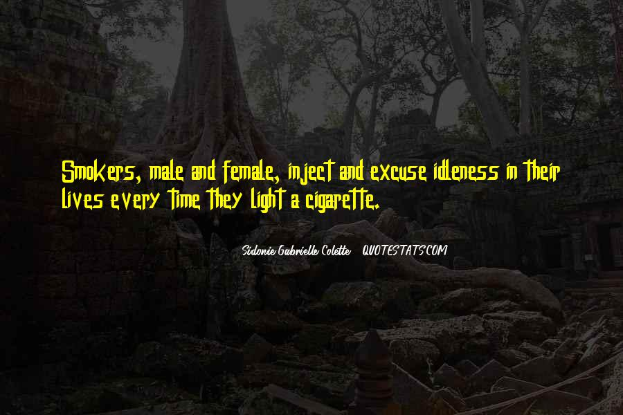 Quotes About Cigarette Smokers #1385072