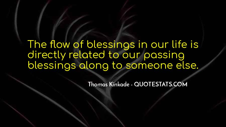 Quotes About Blessings Of Life #122647