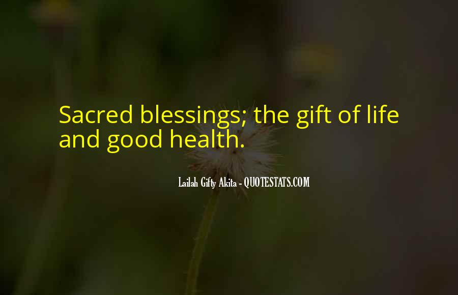 Quotes About Blessings Of Life #689617