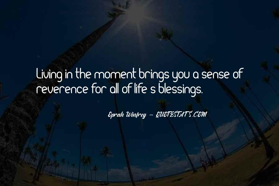 Quotes About Blessings Of Life #701806