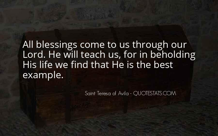 Quotes About Blessings Of Life #79132