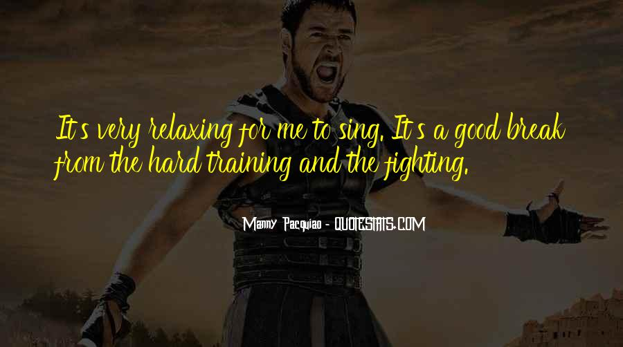 Quotes About Training Hard #1012208