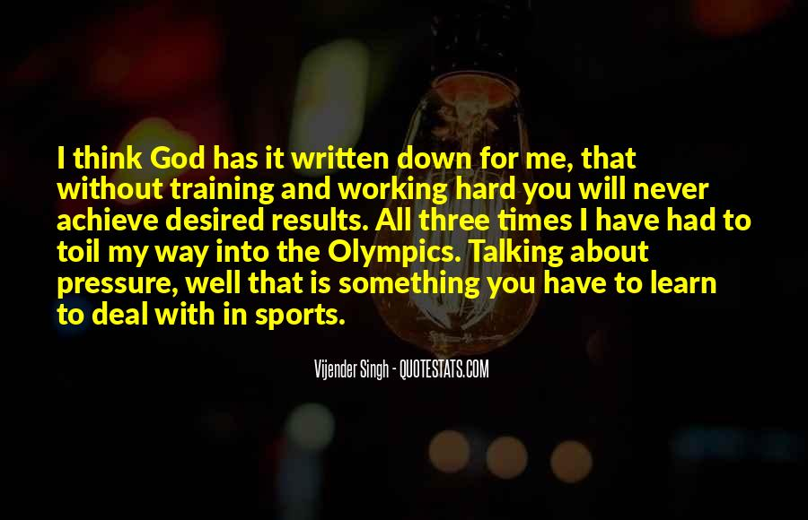 Quotes About Training Hard #1163804